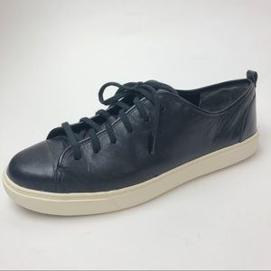 Cole Haan Grand Os Lace Up Black Leather Sneakers
